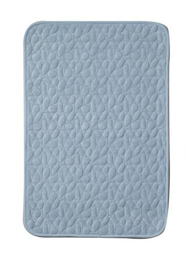 Giz Home Lux Suffy Banyo Paspası 70X120 Taşlı Mavi Mavi